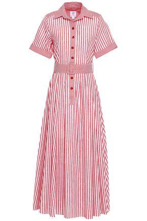 GÜL HÜRGEL Striped cotton maxi shirt dress