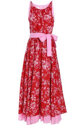 GÜL HÜRGEL Pleated printed cotton maxi dress