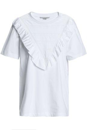 STELLA McCARTNEY Ruffle-trimmed cotton-jersey T-shirt