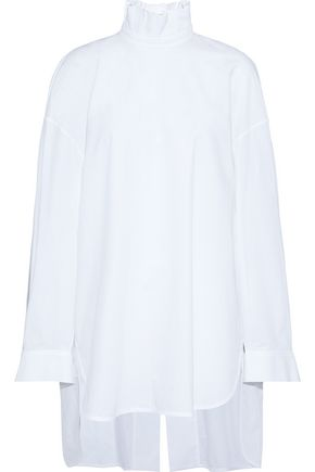 ELLERY Runaways oversized cotton-jacquard turtleneck tunic