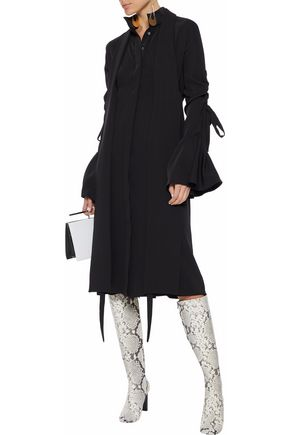 ELLERY Inez pussy-bow twill shirt dress
