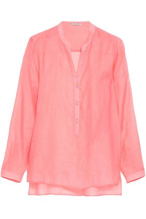 EMILIO PUCCI Cotton and silk-blend shirt