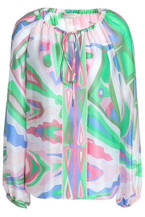 EMILIO PUCCI Printed silk-gauze blouse