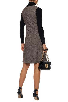 DOLCE & GABBANA Houndstooth wool and cotton-blend dress