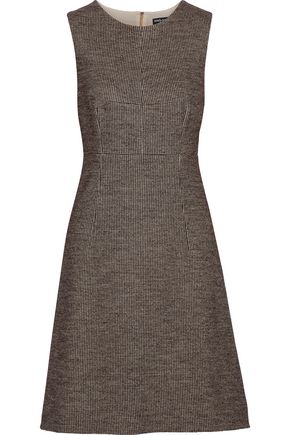 DOLCE & GABBANA Houndstooth wool and cotton-blend mini dress