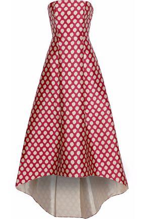 SACHIN & BABI Strapless polka-dot duchesse-satin gown