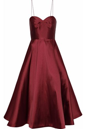 SACHIN & BABI Flared duchesse-satin midi dress