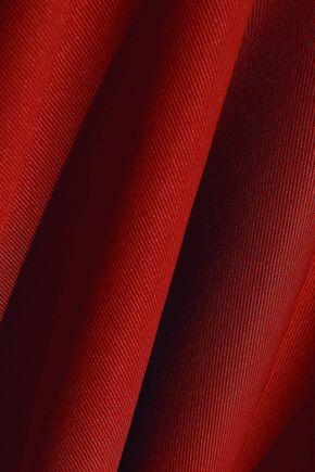 SACHIN & BABI Asymmetric faille gown
