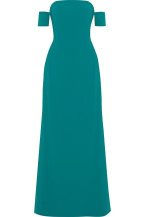 SACHIN & BABI Off-the-shoulder crepe gown