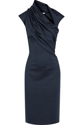 OSCAR DE LA RENTA Gathered stretch-jersey dress