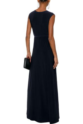 NORMA KAMALI Belted stretch-jersey gown