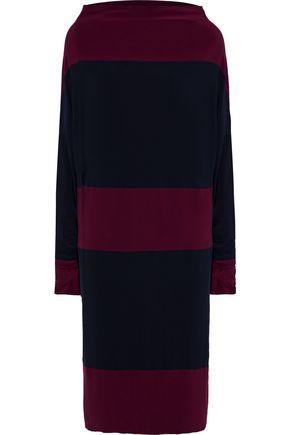 NORMA KAMALI Convertible striped stretch-jersey dress
