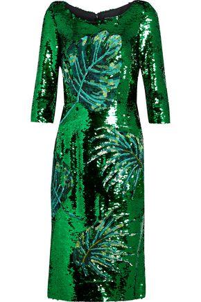 DOLCE & GABBANA Embellished mesh dress