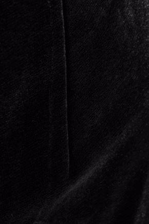 SACHIN & BABI Off-the-shoulder velvet gown