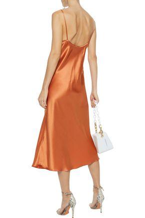 ELLERY Silk-satin midi slip dress
