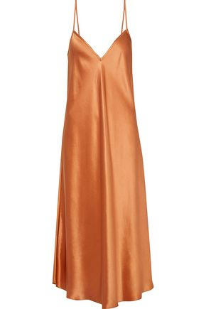 ELLERY Silk-satin midi slip dress