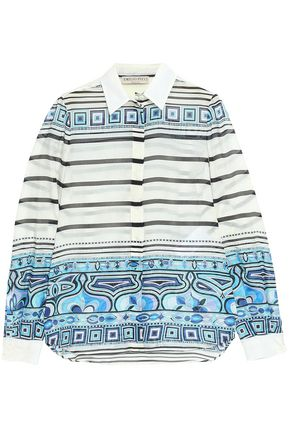 73137cfcd327 EMILIO PUCCI Printed cotton and silk-blend shirt