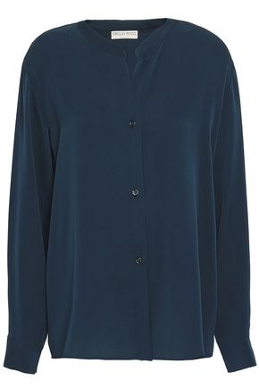 EMILIO PUCCI Silk-blend satin-crepe shirt