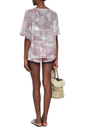 EMILIO PUCCI Printed crochet-knit shorts