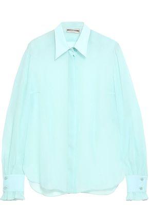 EMILIO PUCCI Ruffle-trimmed silk-georgette shirt