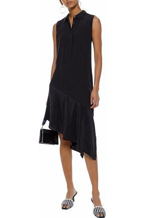 EQUIPMENT Tira asymmetric washed-silk dress