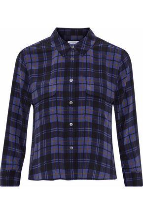 EQUIPMENT Signature checked washed-silk shirt