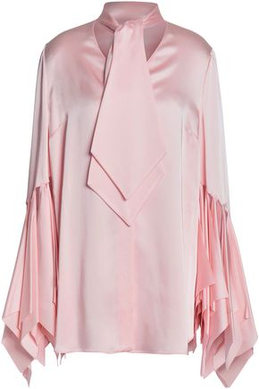CHRISTOPHER KANE Appliquéd satin blouse