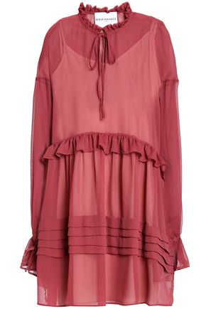 PERSEVERANCE Ruffle-trimmed gauze mini dress