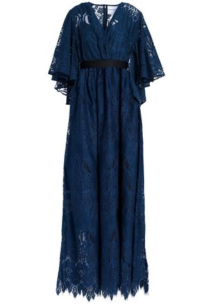 PERSEVERANCE Gathered lace maxi dress