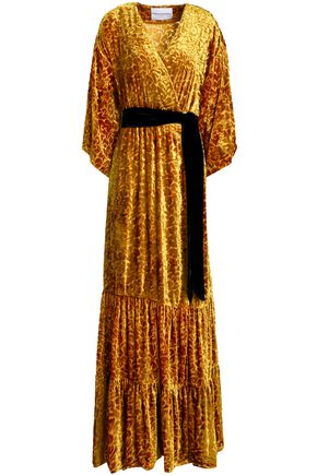 PERSEVERANCE Velvet wrap gown