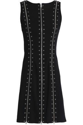 McQ Alexander McQueen Eyelet-embellished stretch-jersey mini dress