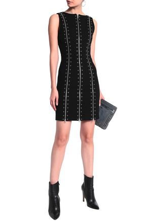 ef8cfb14ab3b6 ... McQ Alexander McQueen Eyelet-embellished stretch-jersey mini dress ...