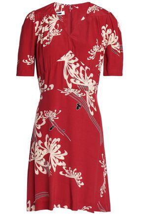 McQ Alexander McQueen Printed woven mini dress