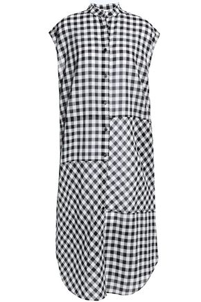 McQ Alexander McQueen Lace-up gingham cotton midi dress