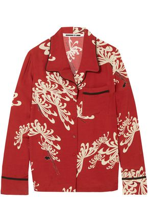 McQ Alexander McQueen Printed crepe de chine shirt
