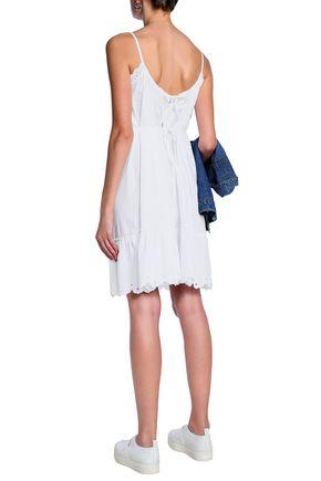McQ Alexander McQueen Broderie anglaise cotton-poplin dress