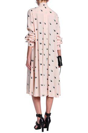 McQ Alexander McQueen Printed crepe dress