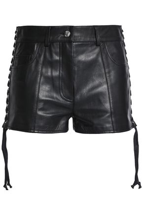 McQ Alexander McQueen Lace-up leather shorts