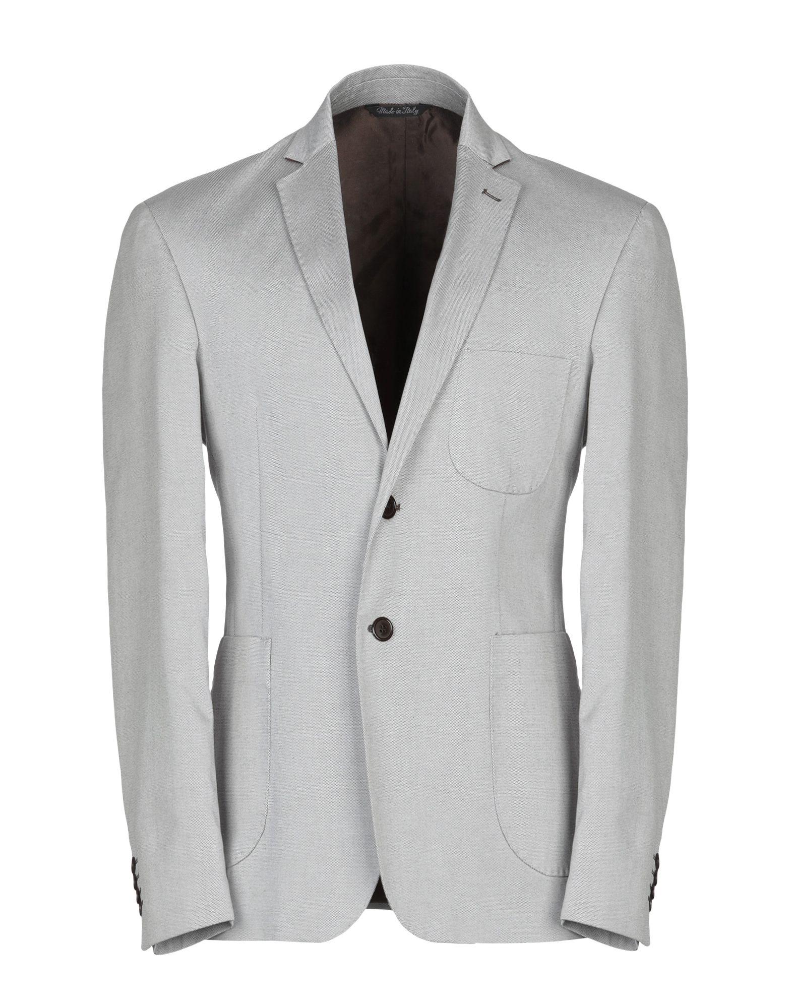 《セール開催中》ROY BLANCO メンズ テーラードジャケット ライトグレー 52 コットン 98% / ポリウレタン 2%