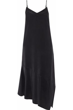 EQUIPMENT Jada asymmetric washed-silk midi slip dress