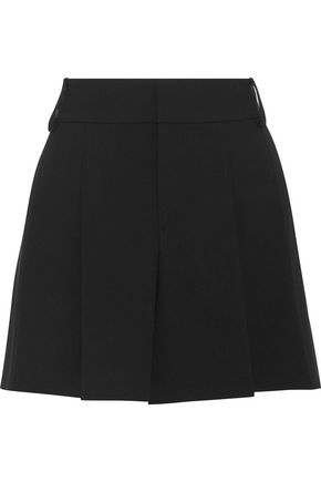 ALICE + OLIVIA Scarlet pleated crepe shorts