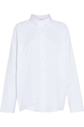 PETERSYN Bromley oversized cotton-poplin shirt