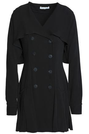 J.W.ANDERSON Double-breasted cape-effect crepe mini dress