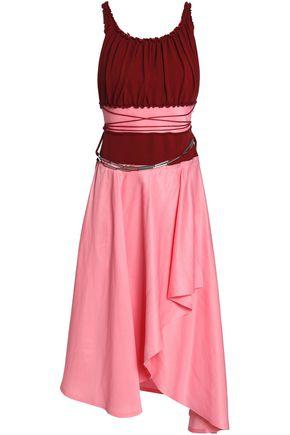 J.W.ANDERSON Open-back woven-paneled jersey midi dress