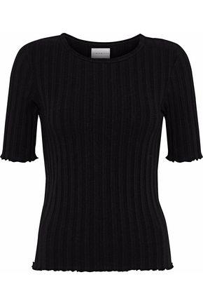 SIMON MILLER Ribbed Tencel-blend T-shirt