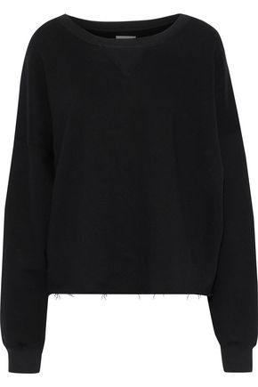 Brush Frayed French Cotton Terry Sweatshirt by Simon Miller