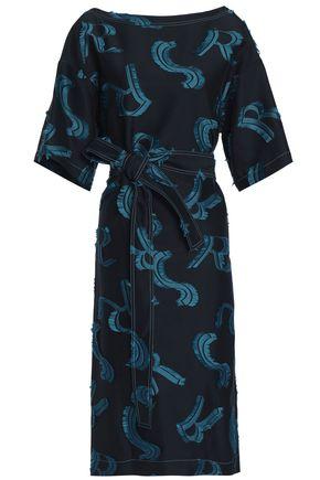 SONIA RYKIEL Jacquard and fil coupé gabardine dress