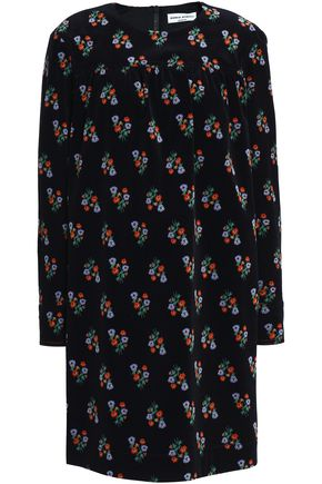 SONIA RYKIEL Floral-print cotton-blend corduroy mini dress