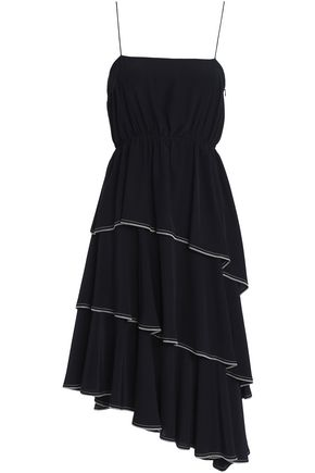 SONIA RYKIEL Tiered silk crepe de chine dress