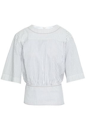 SONIA RYKIEL Striped cotton-jacquard top